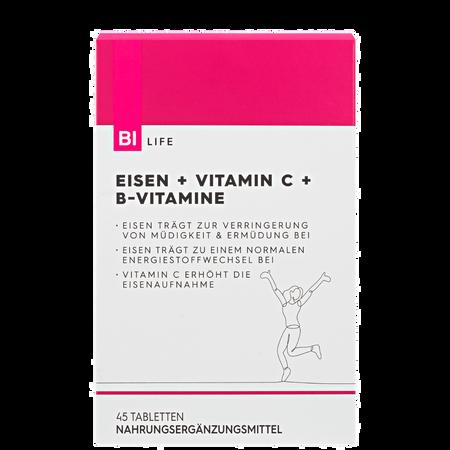 BI LIFE Eisen + Vitamin C + B-Vitamine
