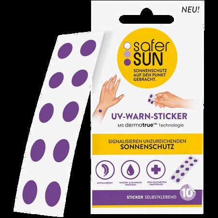 safer SUN UV-Warn-Sticker