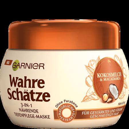 GARNIER Wahre Schätze 3-in-1Maske Kokosmilch & Macadamia