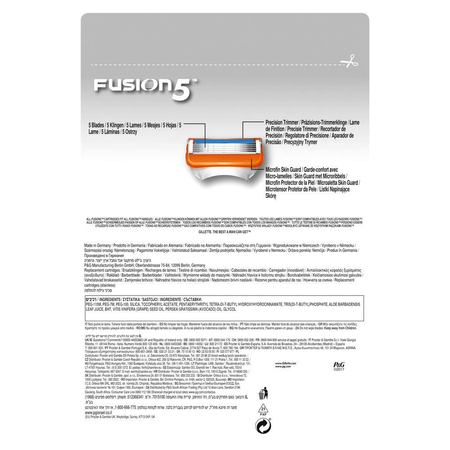 Gillette Fusion5 Rasierklingen für Männer, 14   Stück