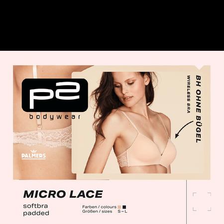 p2 Micro Lace Softbra padded