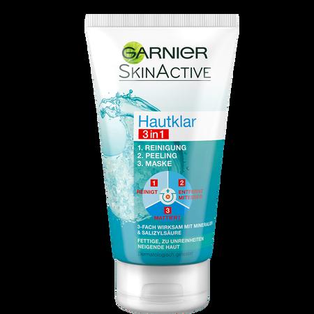 GARNIER SKIN ACTIVE Hautklar 3in1 Reinigung + Peeling + Maske
