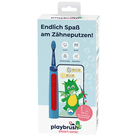 Playbrush Smart Sonic blau elektrische Kinderzahnbürste