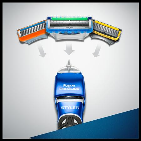 Gillette Fusion ProGlide 3-in-1 Styler–   Trimmer, Rasierer& Definierer