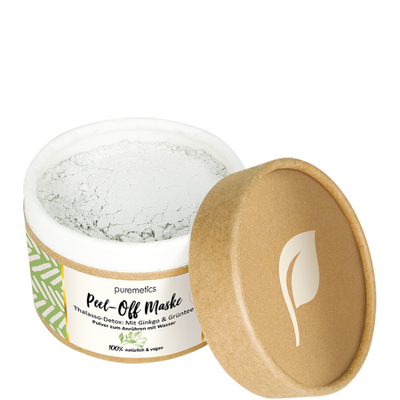 puremetics Peel-Off Gesichtsmaske Thalasso Detox Ginko & Grüntee