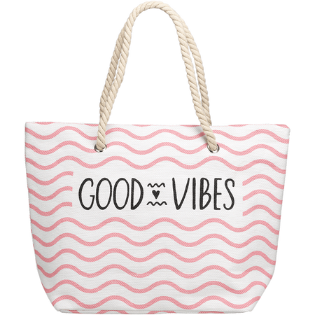 LOOK BY BIPA Strandtasche Good Vibes Rose Wave
