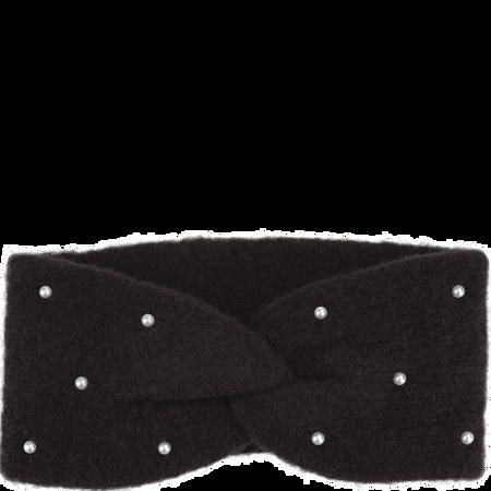 BI STYLED Stirnband Mit Perlen Schwarz
