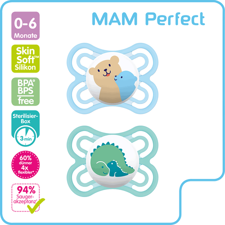 MAM Perfect Silikion Schnuller 0-6M