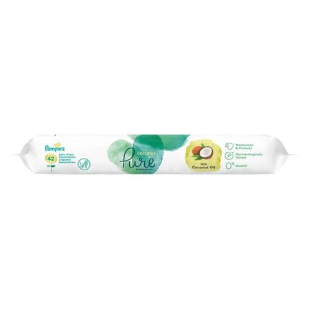 Pampers Coconut Pure Feuchttücher   1Packungen= 42Feuchttücher