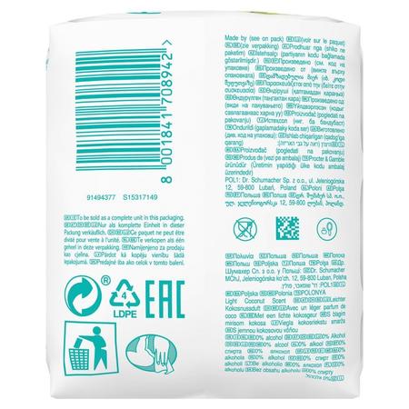 Pampers Coconut Pure Feuchttücher   3Packungen= 126Feuchttücher