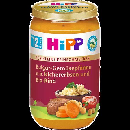 HiPP Feinschmecker Menü Gemüsepfanne mit Kichererbsen und Bio-Rind