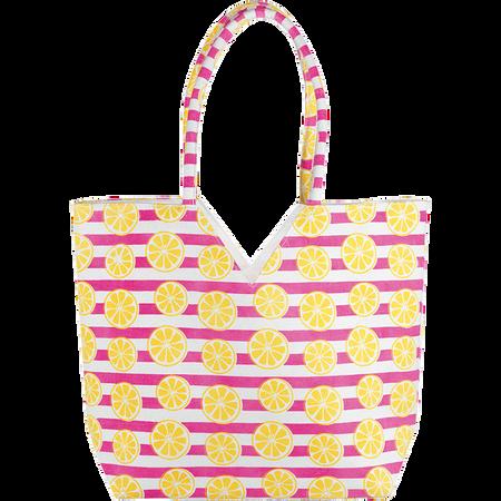 LOOK BY BIPA Shopper Zitronen/Streifen