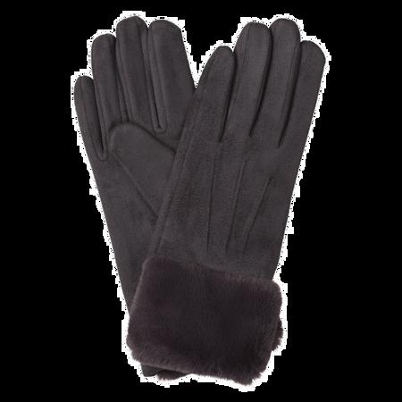 BI STYLED Handschuhe mit Fellbund Grau