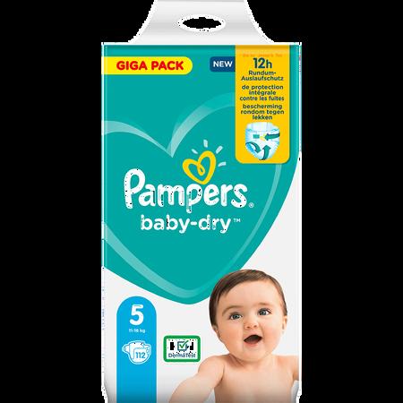Pampers Baby-Dry Gr. 5 (11-16kg) Giga Pack