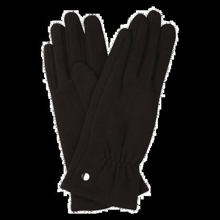 BI STYLED Handschuhe mit Knopf Schwarz