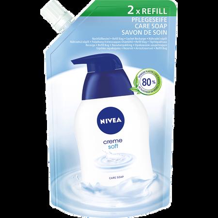 NIVEA Creme Soft Pflegeseife Nachfüllgröße
