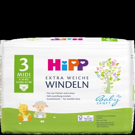 HiPP Babysanft Windeln Midi 3 6-10 kg