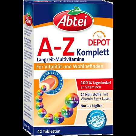 Abtei A-Z Komplett Multi-Vitamine Plus Ginkgo Tabletten
