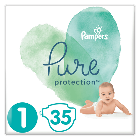 Pampers Pure Protection Größe 1, 35   Windeln