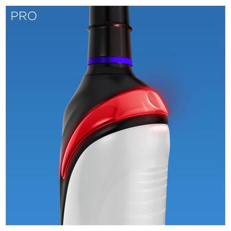Oral-B Pro2 2000 Black Edition Elektrische   Zahnbürste, mit visueller Andruckkontrolle für extra Zahnfleischschutz,   schwarz
