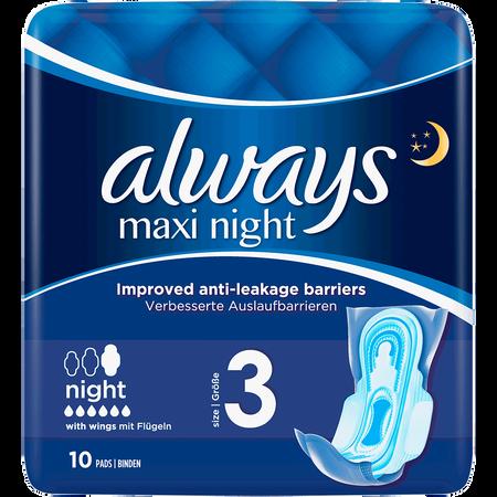 always MAXI night Binden mit Flügel