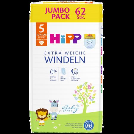 HiPP Babysanft Windeln Midi 5 11-17kg Jumbo Pack