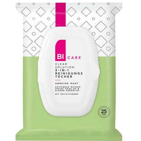 BI CARE Clear Solution 3-in-1 Reinigungstücher