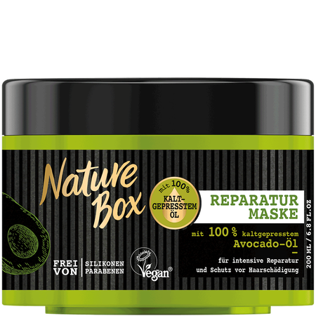 Nature Box Reparatur Maske mit Avocado Öl