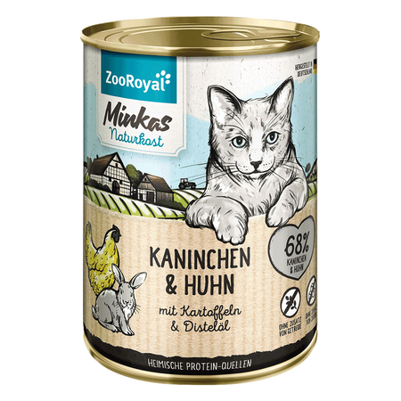ZooRoyal Minkas Naturkost Adult Kaninchen & Huhn Katzenfutter