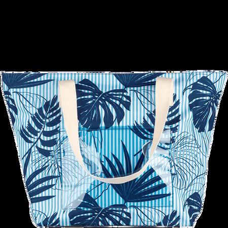 LOOK BY BIPA Strandtasche Blätter blau