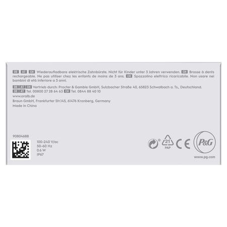 Oral-B Pulsonic Slim Luxe 4000 Elektrische   Schallzahnbürste für gesünderes Zahnfleisch in 4 Wochen, mit   Sensitiv-Programm und Timer, platin