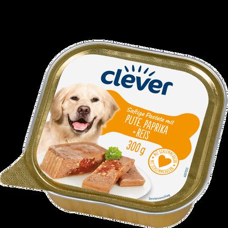 clever  Saftige Pastete mit Pute, Paprika + Reis Hundefutter