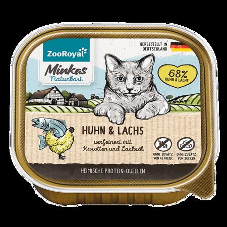 ZooRoyal Minkas Naturkost Adult Huhn & Lachs Katzenfutter