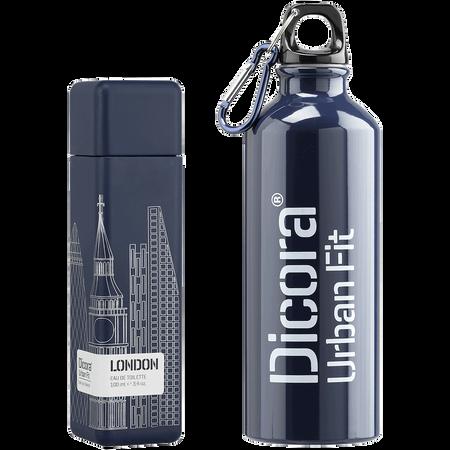 Dicora Duftbox Urban Fit London mit Trinkflasche Eau de Toilette (EdT)