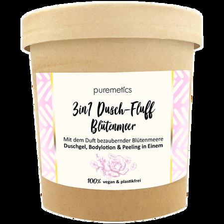 puremetics 3in1 Duschfluff Blütenmeer mit Zuckerpeeling