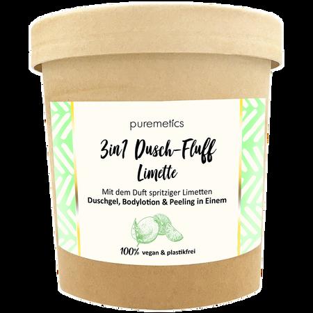 puremetics 3in1 Duschfluff Limette mit Salzpeeling