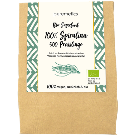 puremetics Bio Spirulina Tabletten Superfood