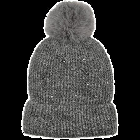 BI STYLED Mütze Mit Steinchen Grau