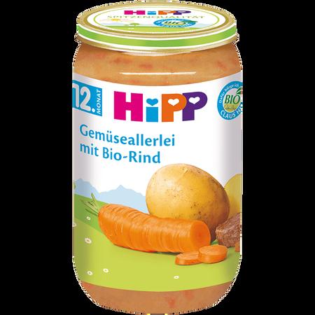HiPP Gemüseallerlei mit Bio-Rind