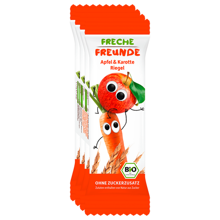 Freche Freunde Getreideriegel Apfel & Karotte