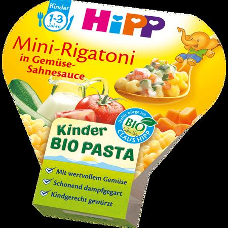 HiPP Kinder Bio-Pasta Mini Rigatoni in Gemüse-Sahnesauce