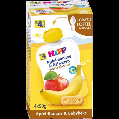 HiPP Apfel-Banane & Babykeks Quetschbeutel
