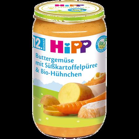HiPP Buttergemüse mit Süßkartoffelpüree & Bio-Hühnchen