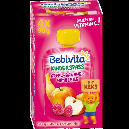 Bebivita Kinderspaß Apfel/Banane/Himbeere mit Keks