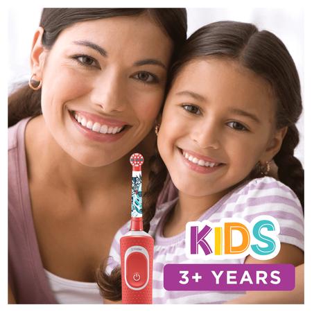 Oral-B Kids StarWars Elektrische   Zahnbürste mit Disney-Stickern, für Kinder ab 3 Jahren, rot
