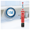 Bild: Oral-B Kids StarWars Elektrische   Zahnbürste mit Disney-Stickern, für Kinder ab 3 Jahren, rot