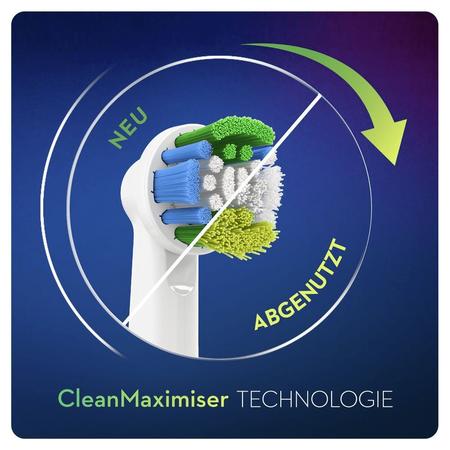 Oral-B Precision Clean Aufsteckbürsten mit   CleanMaximiser-Borsten für eine optimale Reinigung, 4Stück