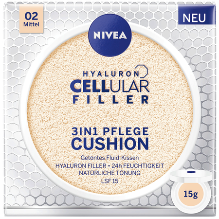 Bild: NIVEA Hyaluron Cellular Filler 3in1 Pflege Cushion mittel NIVEA Hyaluron Cellular Filler 3in1 Pflege Cushion