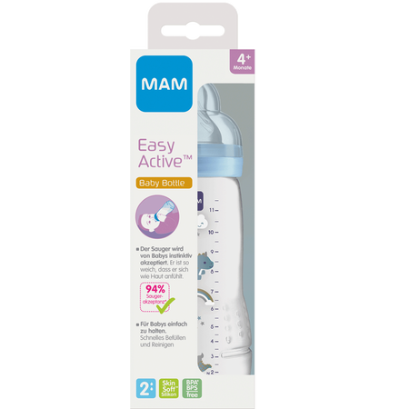 MAM Easy Active Baby Bottle 330ml Fairy Tale - Babyflasche Blau