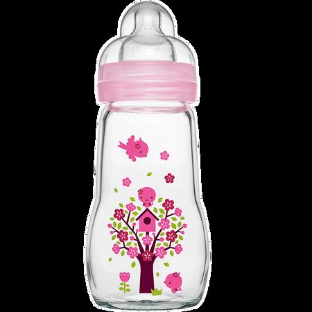 MAM Feel Good 260ml - Babyflasche aus Glas Rosa